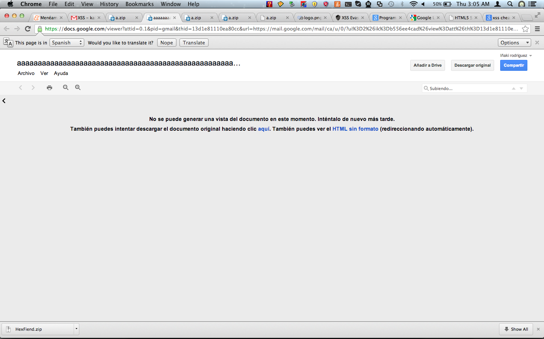 SensePost | Google docs xss – no bounty today