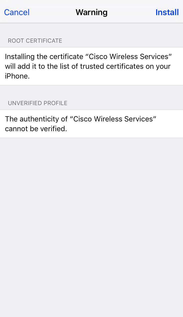 Sensepost too easy adding root cas to ios devices 3 root cert warning 1betcityfo Image collections