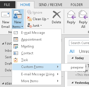 SensePost | Outlook forms and shells