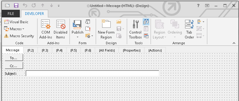 Outlook Design A Form Frodofullring